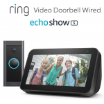 Echo Show 5 + Ring Video Doorbell Wired + 60 Tage Audible um 59,99 €