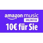 AmazonMusic – 30 Tage gratis hören und 10 € Amazon Gutschein erhalten