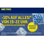Metro – 10% Rabatt auf alles am 16. – 18.08. von 19 bis 22 Uhr!