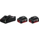 Bosch Professional Akku Starterset 18V (2×4.0Ah + Ladegerät) um 102 €