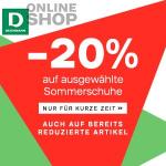 Deichmann – 20% Extra-Rabatt auf ausgewählte Sommerschuhe