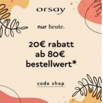 Orsay – 20 € Rabatt auf reguläre Ware (ab 80 €) – nur heute!