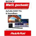 Media Markt – 16,67% Rabatt auf Sony Soundbars & Sony TVs