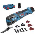 Bosch Professional GOP 12V-28 Akku-Multifunktionswerkzeug inkl. L-Boxx + 2 Akkus 3.0Ah + Zubehör um 183,33 € statt 238,97 €