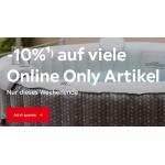 XXXLutz – 10% Rabatt auf Online Only Produkte (nur heute)
