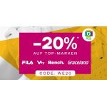 Deichmann – 20% Rabatt auf reguläre Artikel von Fila, Vty, Bench & Graceland (gratis Versand)