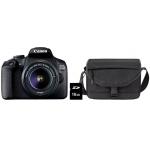 CANON Spiegelreflexkamera EOS 2000D mit EF-S 18-55mm 3.5-5.6 III + Tasche SB130 + 16GB Speicherkarte um 319 € statt 444,98 €