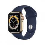 Apple Watch Series 6 (GPS + Cellular) 40mm Edelstahl gold mit Sportarmband um 630,55 € statt 718,51 €