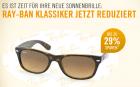 Bis zu -29% auf Ray Ban Sonnenbrillen @ Mister Spex