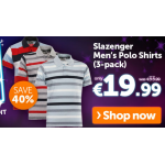 Slazenger Polo-Shirts im 3er-Pack um 19,99€ @Play.com