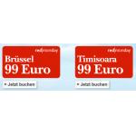 Um 99€ nach Brüssel oder Timisoara @Austrian redmonday