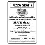 Pizza Mann: 2 Pizzen zum Preis von 1