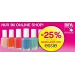 -25% auf alle ESSIE Nagellacke @ BIPA Online Shop