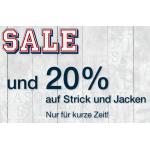 -20% auf Strickwaren und Jacken + Midseason Sale