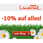 -10% auf alles bei Universal