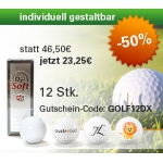50% günstiger – 12 Stk. gestaltbare Golfbälle DX2