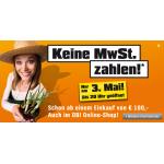 Keine MwSt. zahlen bei Obi (off- und online) am 3.5.2012