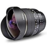 Walimex Pro AE Fish-Eye-Objektiv 8 mm 3,5 für Nikon um 278€