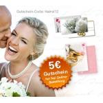 5-Euro-Gutschein für Hochzeits-Sets