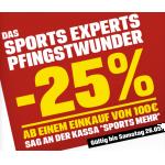 25% Rabatt bei Sports-Experts (Online und Offline)