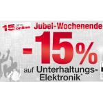15% Rabatt auf Unterhaltungselektronik bei Neckermann