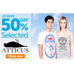 50% Rabatt auf ausgewählte Atticus Kleidung bei play.com