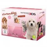 Nintendo 3DS Konsole Korallenrosa inkl Nintendogs Cats, Tasche, Folie für 159,33€