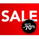 Sale für Damen und Herren mit bis zu 70% + 5€ Gutschein bei Zalando