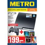 Playstation 3 160GB Slim + 4x 3D Blu-ray Filme um 238,80€ bei Metro