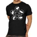 Big Bang Theory – Stein Schere Papier Echse Spock T-Shirt um 12,99€