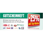 -25% Marken Gutscheinheft @ Merkur Markt
