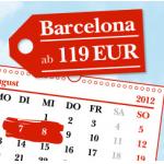 nur heute & morgen buchbar: Wien – Barcelona um 119€ / Wien – Berlin um 129€