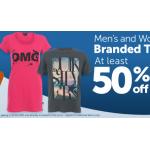 50% Rabatt auf ausgewählte Marken T-Shirts für Damen und Herren