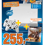 Neues Saturnprospekt: z.B.: PS3 in weiß + 2 Controller + Uncharted 3 um 255€