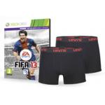 FIFA 13 für PS3 / XBOX360 + 2 Levis Boxershorts um 45€ bei theHut.com