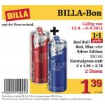 Red Bull Red/Blue/Silver 1+1 gratis bei Billa