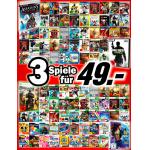 3 Games (PS3, XBOX360, Wii, PC) für 49€ kaufen