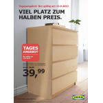 nur morgen: MALM Kommode mit 4 Schubladen um 39,99€ statt 79,99€ bei IKEA