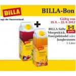 BILLA Saft Morgenkick, Energiebündel oder Jungbrunnen 1+1 Gratis!