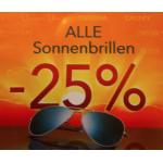 -25% auf alle Sonnenbrillen bei Pearle