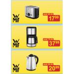 WMF Produkte (Toaster, Kaffeemaschine, Wasserkocher) sehr günstig bei Möbelix