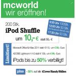G3 Eröffnungsangebot von McWorld z.B. iPod Shuffle um 10€!