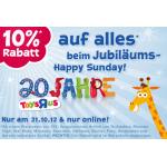 nur heute: 10% Rabatt auf (fast) alles bei ToysRus.at