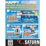 Saturn Happy Hour nur morgen von 8-18 Uhr (inkl. Onlineshop)