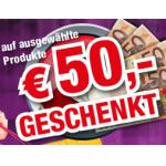 nur noch heute: 50€ geschenkt auf ausgewählte Produkte bei electronic4you