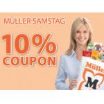 nur morgen: 10% Rabatt bei Müller