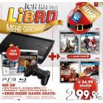 Playstation 3 Slim 500 GB + 3 Spiele um 299,99€