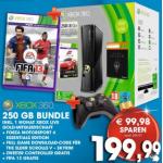 Xbox 360 250 GB + 2 Controller + 3 Spiele (Fifa 13) um 199€