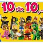 10 Lego Minifiguren um 10€ bei Toys R Us