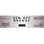 Everlast, Boxfresh, Bravesoul, Crosshatch um 20% günstiger bei  THE HUT